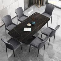 Ayden Dining table Square Black 160x80